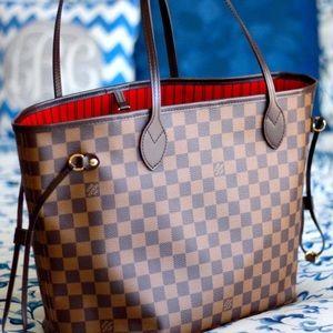 hNew t Louis Vuitton Neverfull Handbag Purse t MMg